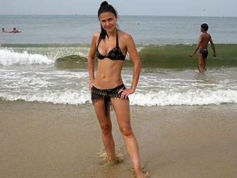 Пляж Девушки Ежедневный Сочи 98